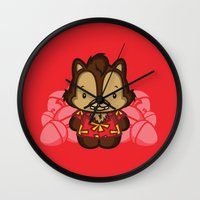 dale cooper Wall Clocks featuring Hello Dale by Hoborobo