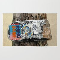 skateboard Area & Throw Rugs featuring Skateboard Street Art  by Ethna Gillespie