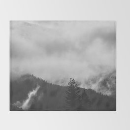 Undone - nature photography Throw Blanket