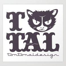 TTAL cat purple Art Print