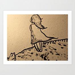 The Lost Girl Art Print