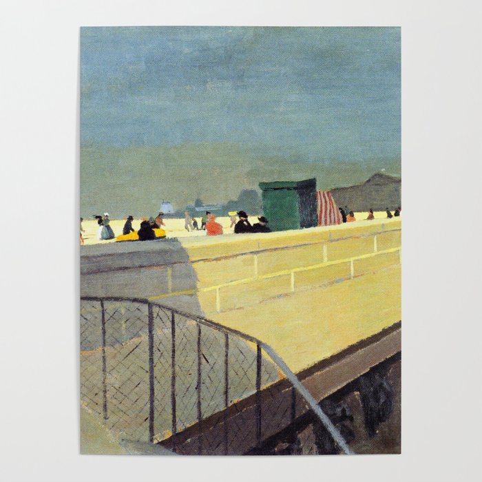 Felix Vallotton - Le Pont Neuf (new color editing) Poster by ...