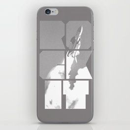 ROCKIT (White on Grey) iPhone Skin