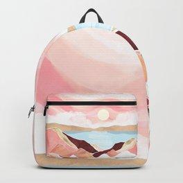 Autumn Lake Sunrise Backpack