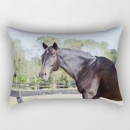 Beautiful in Blac Rectangular Pillow