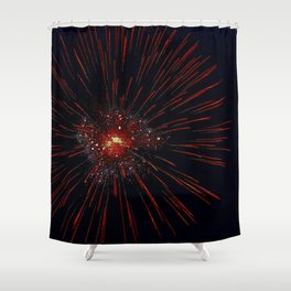 Marina Fireworks 2018 view 2 Shower Curtain