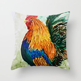 Cock-a-doodle-do! Throw Pillow