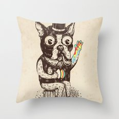 Strange Dog Throw Pillow