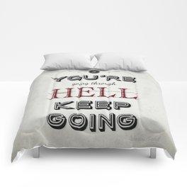 Churchill Quote Comforters