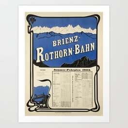 Advertisement brinez rothorn bahn  brienz Art Print