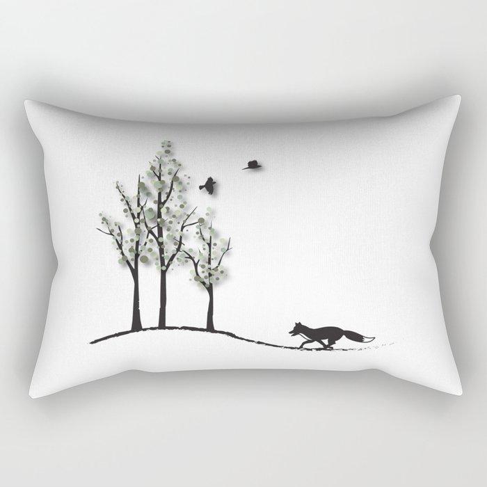 Fantasy Trees No. 2 Rectangular Pillow