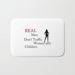 Real Men Don't Traffic Bath Mat