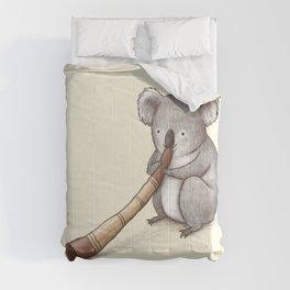 Koala Playing the Didgeridoo Comforters