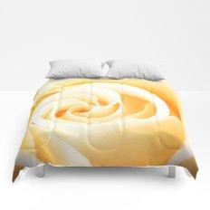 Rose´s heart II - Yellow beautiful rose flower Comforters