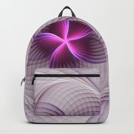 Graphic Design, Fractal Art Pattern With Pink Backpack