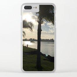 Sunset 3 Wind Beach Brazil Clear iPhone Case