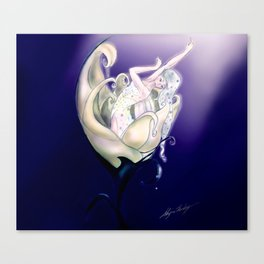 Flower fairy - Nursery Magic Fairy - Velveteen Rabbit Canvas Print