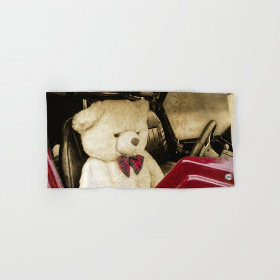 TEDDY GOES FOR A DRIVE Hand & Bath Towel
