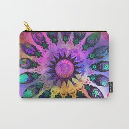 Golden Rainbow Sun Kaleidoscope Carry-All Pouch