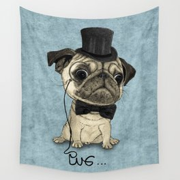 Pug; Gentle Pug (v3) Wall Tapestry