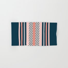 Colorful navy stripes Hand & Bath Towel