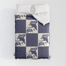 Talavera Blue Bird Comforters