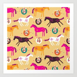 Lucky Horses Art Print