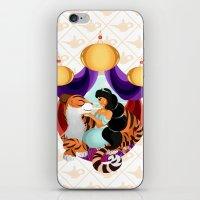 jasmine iPhone & iPod Skins featuring Jasmine by Karrashi