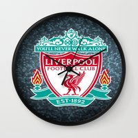 liverpool Wall Clocks featuring LIVERPOOL by Acus