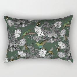 Hummingbirds and Bees (don't let them fade away) Rectangular Pillow