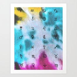 Tie - Dye Astrology Art Print