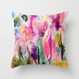 garden fantasy Throw Pillow