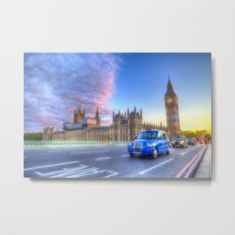 Westminster Bridge Evening Metal Print
