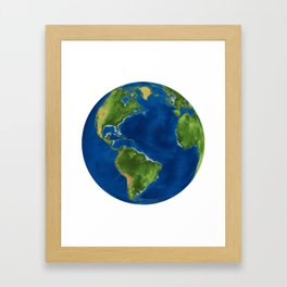 the globe Framed Art Print