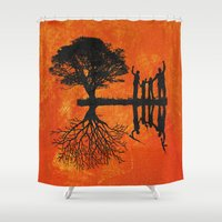 family Shower Curtains featuring Family by Last Call