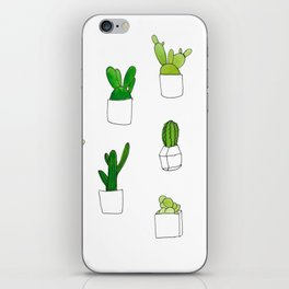 Friendly family of succulents iPhone Skin