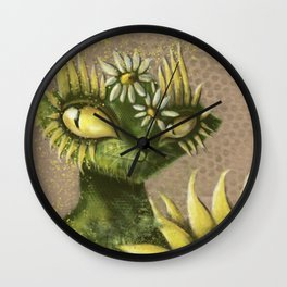 Sun Flower Cat Wall Clock