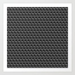Isometric Cubes Art Print