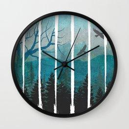 Lost Nature Brush Strokes Wall Clock