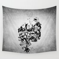 jack skellington Wall Tapestries featuring Jack Skellington by bimorecreative