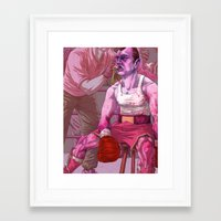 passion Framed Art Prints featuring Passion by Temescu Illustration