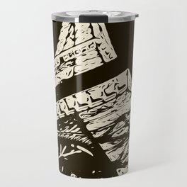 Eiffel Tower, Paris in black and white Travel Mug