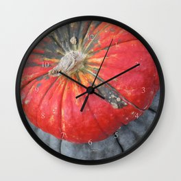pumpkin pile Wall Clock