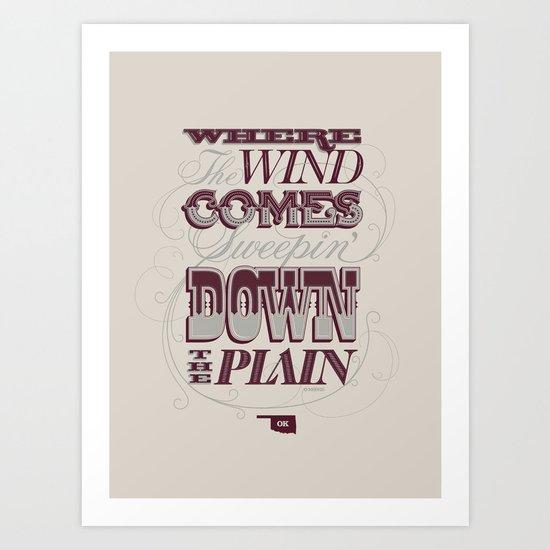 Sweepin' Down The Plain Art Print