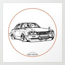 Crazy Car Art 0208 Art Print