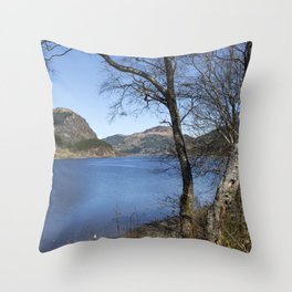 Loch Lubnaig Throw Pillow