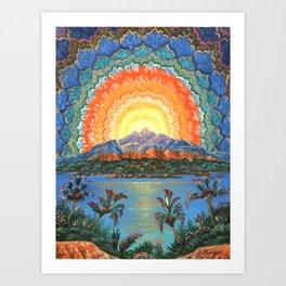 Vision at Sunset Art Print