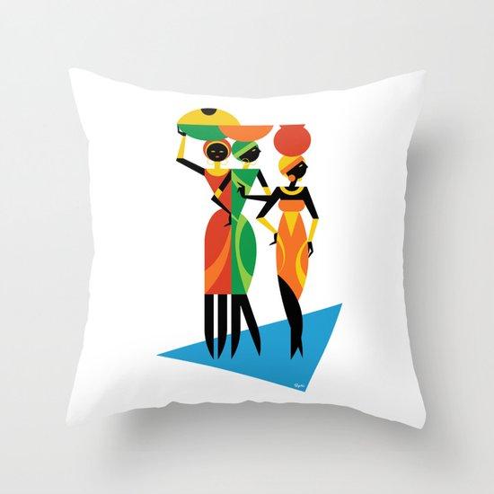 African Women Throw Pillow