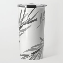 Eucalyptus leaves black and white Travel Mug