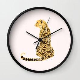 Cheetah Back Looking Left Wall Clock